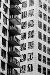 building skyscraper glass Manhattan reflection NYC