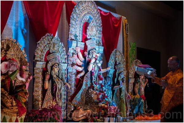 Durga Hindu goddess idol festival India Bengali