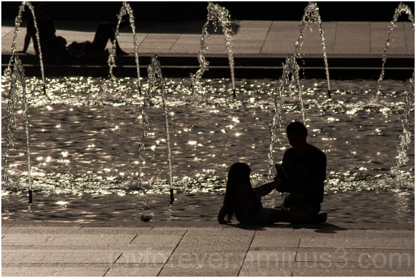 water sun silhouette father daughter man child DC