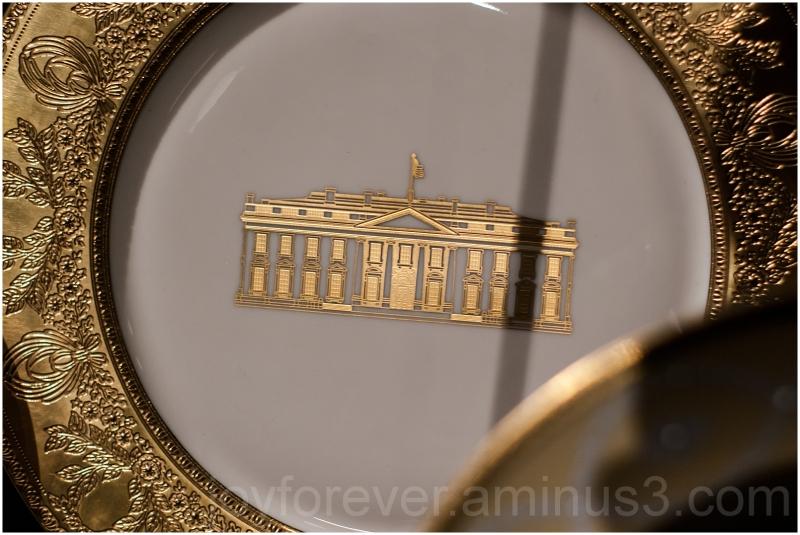 White-House Dinner plate porcelain USA President