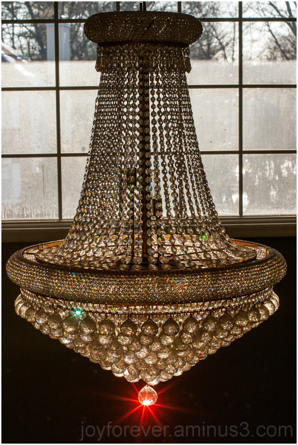 chandelier glass crystal light prism star colour