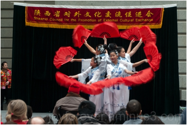 Chinese dance new-year fan Washington DC girls