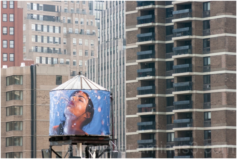water tank poster Manhattan building highrise NYC