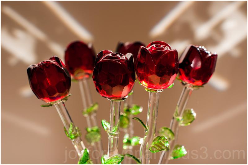 glass flower rose Corning museum vase
