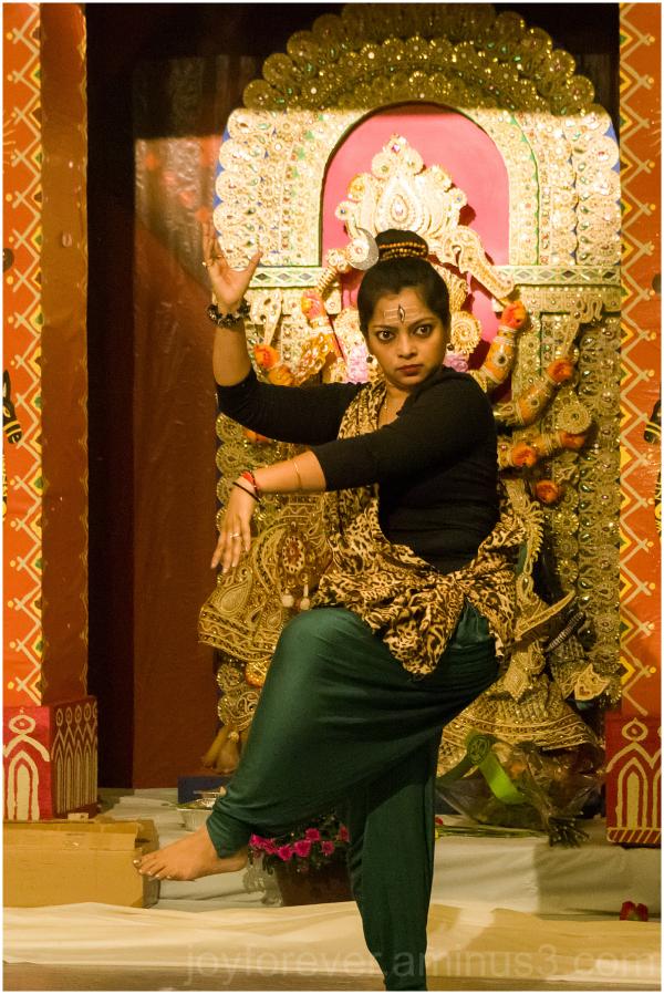 Dancer Indian Hindu festival Durga Shiva