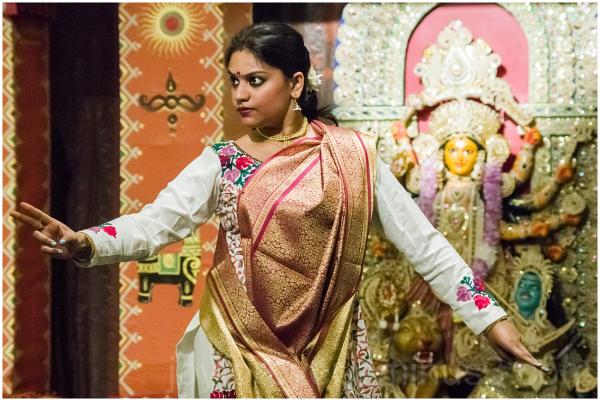 Dancer Indian Hindu festival Durga woman