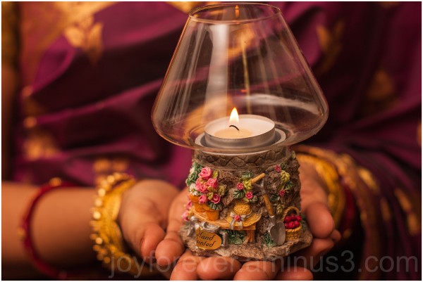 Woman hand festival Diwali Indian candle lamp wife
