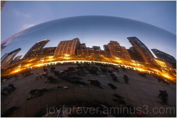 Cloud-Gate Bean Millenium-park Chicago Twilight