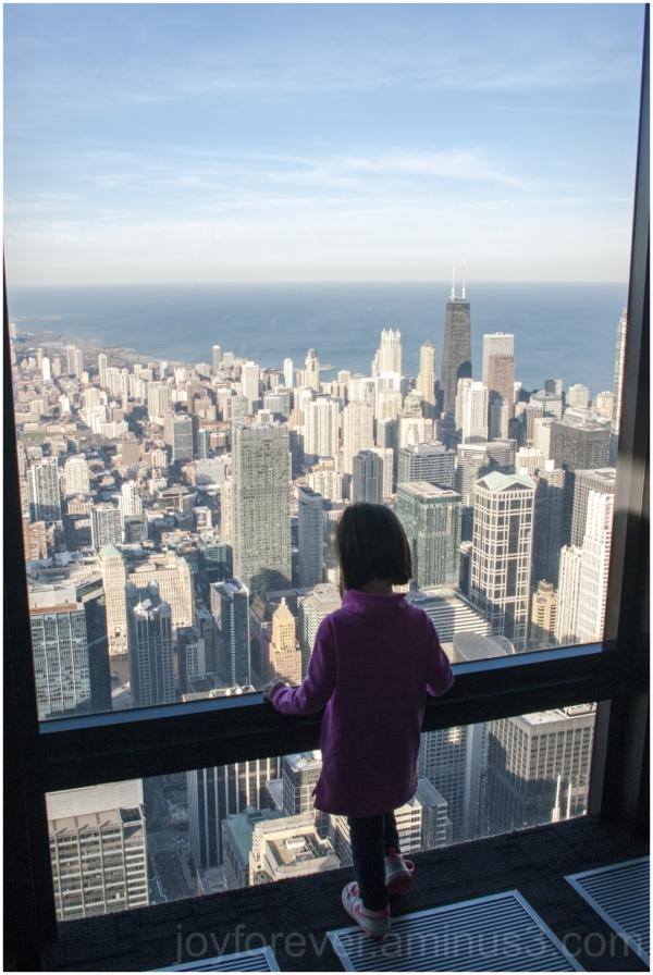 Chicago skyline Willis-tower girl skyscrapers