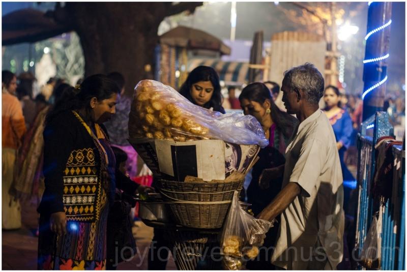 Street food Kolkata India Fuchka night
