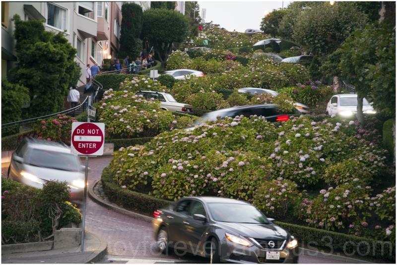 SanFrancisco Lombard Street california crooked car