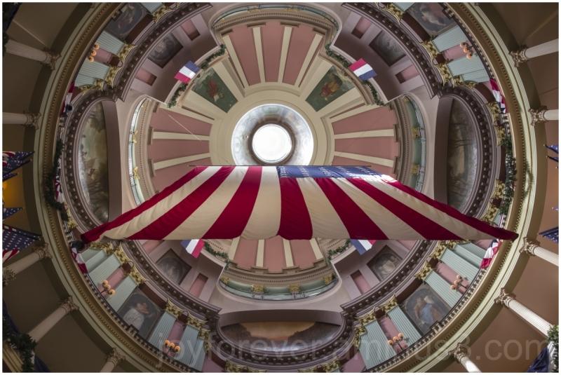 Courthouse StLouis Missouri Rotunda USA Flag dome