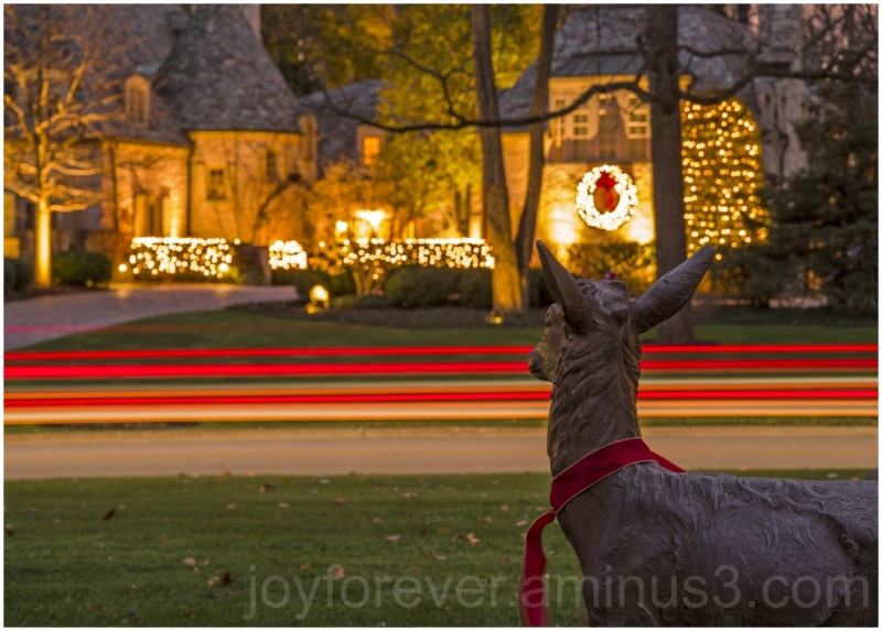Christmas holiday festival deer sculpture lights