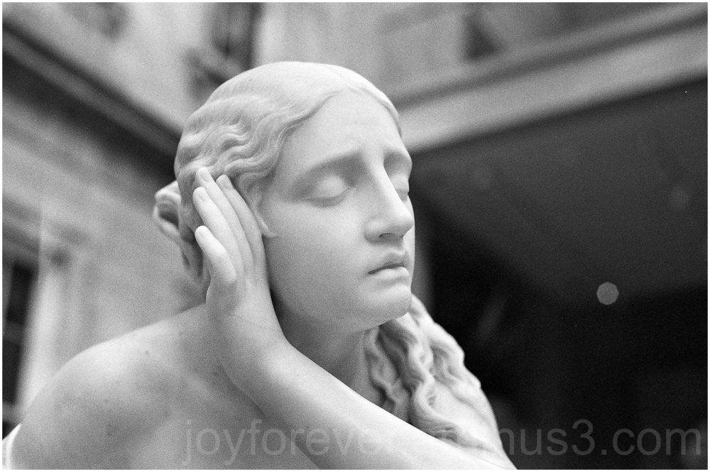 marble statue sculpture black&white film ilford BW