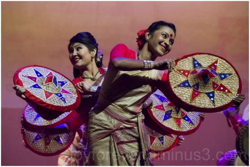 Indian woman dance Bihu Assam India culture music