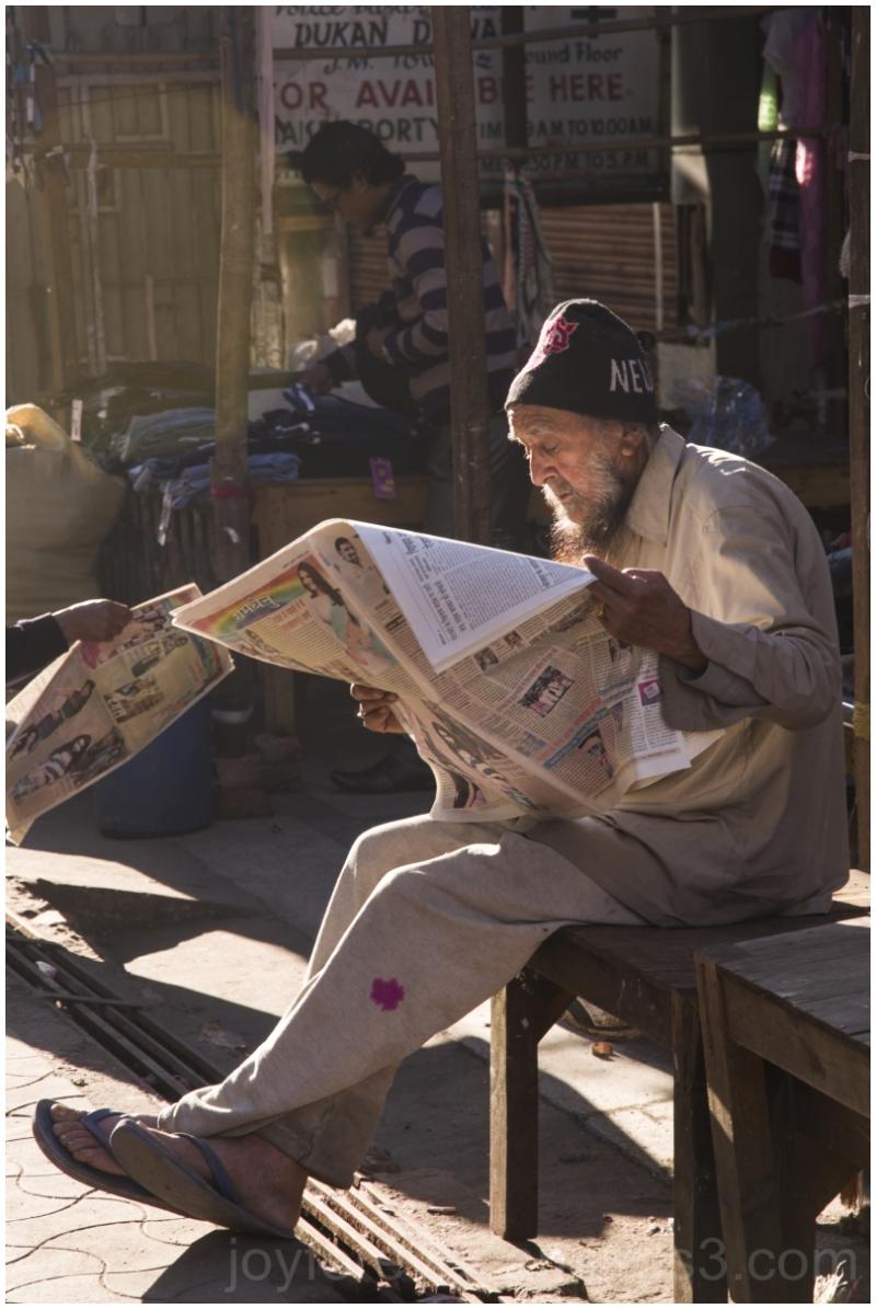 Man Newspaper read Shillong India morning