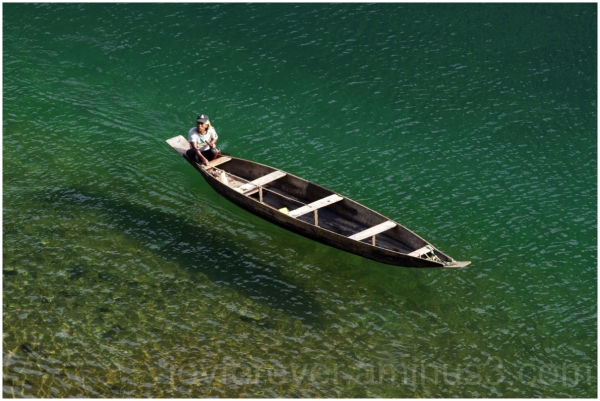 Dawki river water boat Meghalaya India