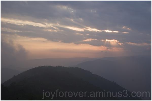 clouds Meghalaya India sunset fog mountains hills