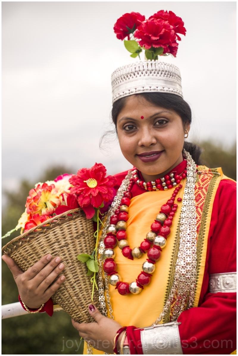 Indian woman khasi traditional dress Meghalaya