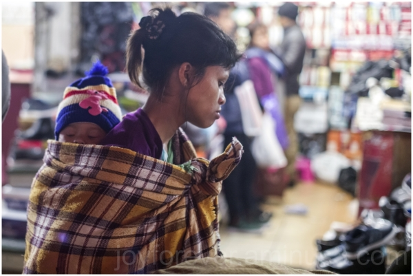 mother child shillong Meghalaya India night street
