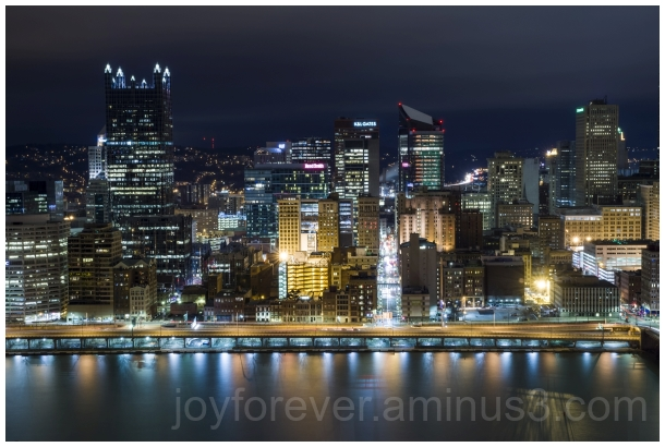Pittsburgh Pennsylvania night cityscape lights