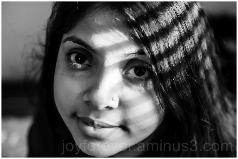 woman black&white B&W portrait face shadow wife