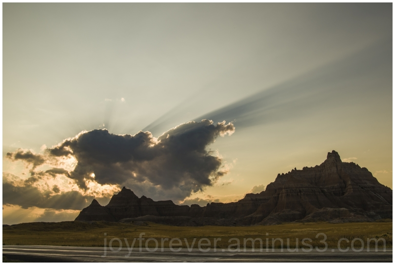 Badlands prairie sunset evening cloud butte SD