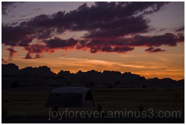 Badlands prairie sunrise dawn cloud butte SD