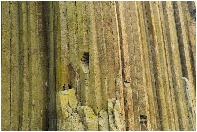 RockClimbing climber cliff mountain DevilsTower WY