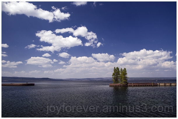 Yellowstone Lake water clouds Wyoming
