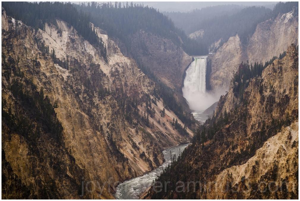 Yellowstone river waterfall water Wyoming