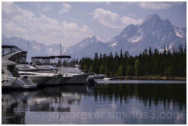 GrandTetons ColterBay mountains lake reflections