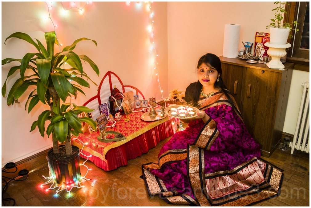 Diwali Indian woman lamps festival saree candles