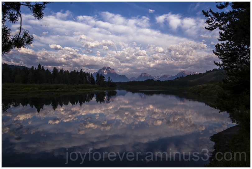 GrandTetons Clouds mountains lake reflections WY