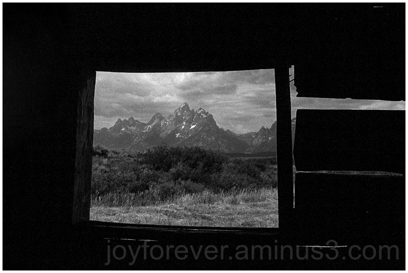 Cunningham Cabin GrandTetons Black&White film WY