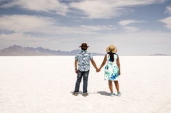 SaltLake, SaltFlats,Bonneville, salt, Utah, couple