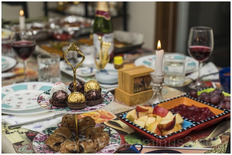 Thanksgiving dinner dessert chocolate table