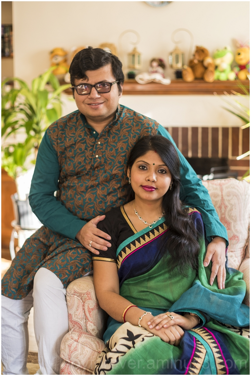 Three man woman couple anniversary Indian Bengali