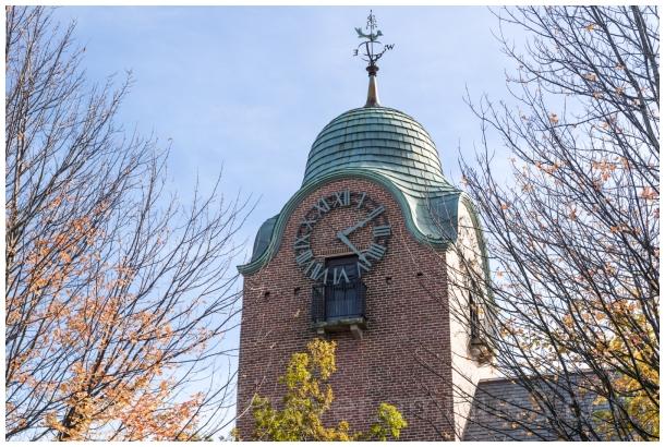 clock tower MarketSquare LakeForest Illinois