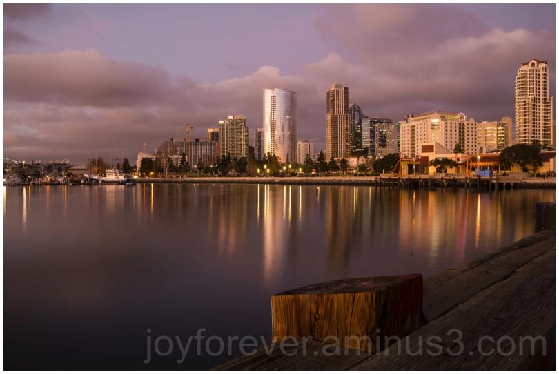 evening water twilight reflection SanDiego CA