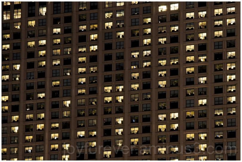 Hotel SanDiego building night windows Hyatt CA
