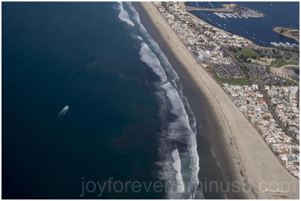 SanDiego California Pacific beach ocean airplane