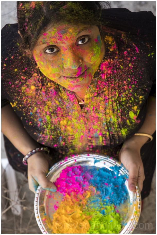 Holi Indian Hindu Festival Colors woman