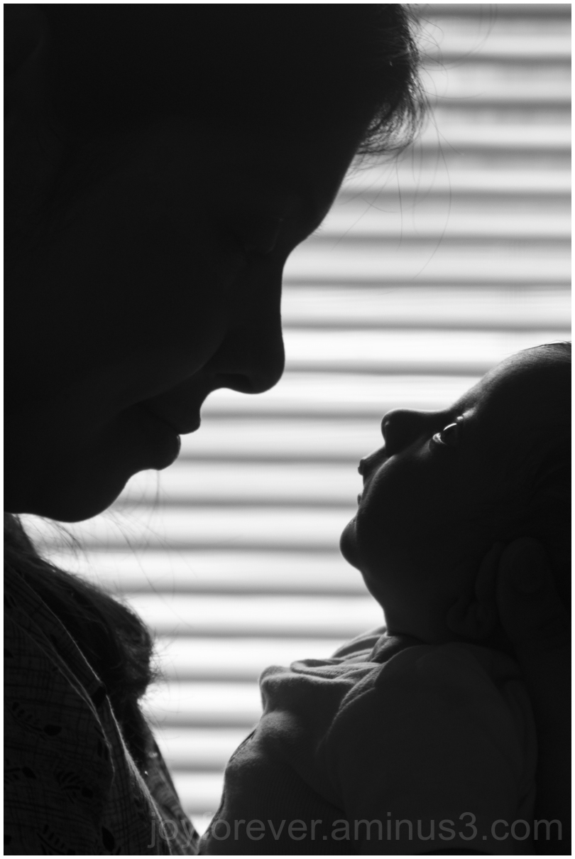 Mother child daughter baby infant silhouette