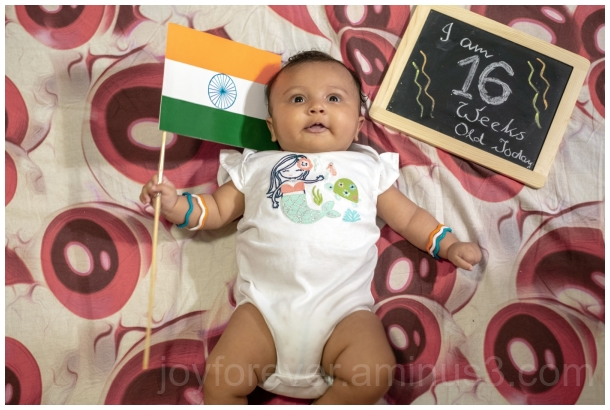 baby child Indian Independence tricolour 16weeks