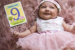 baby child girl dress pink 9weeks