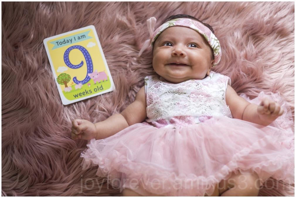 baby child girl dress pink 9weeks