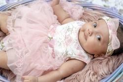 baby child girl dress pink 9weeks basket