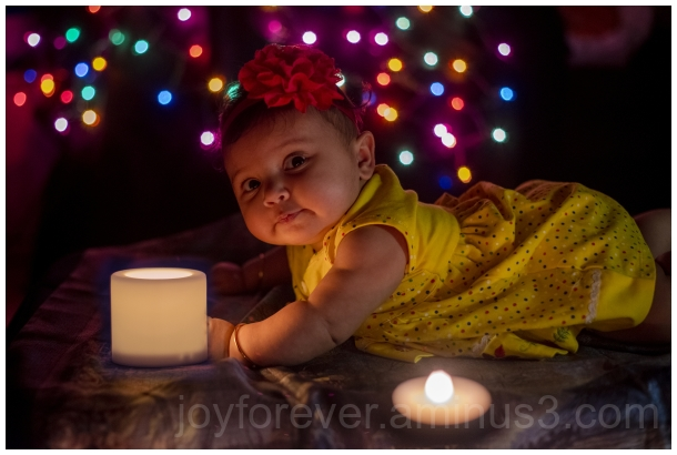 baby child girl Diwali Indian festival lights
