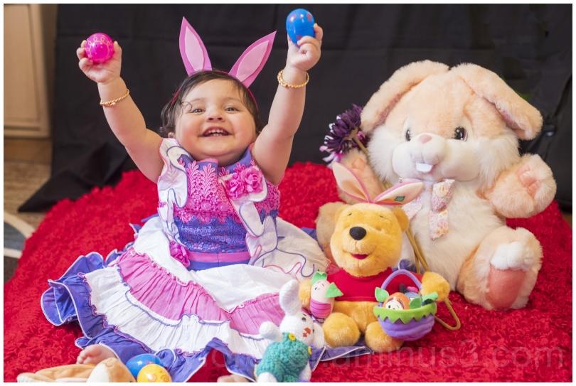 baby girl daughter bunny Easter festival toddler